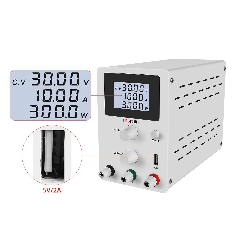 LCD Screen DC Lab Bench Power Supply 30v 10a 60v 5a Adjustable Switching Bench Source Digital Voltage Regulator 0.001A 120V 3A-2