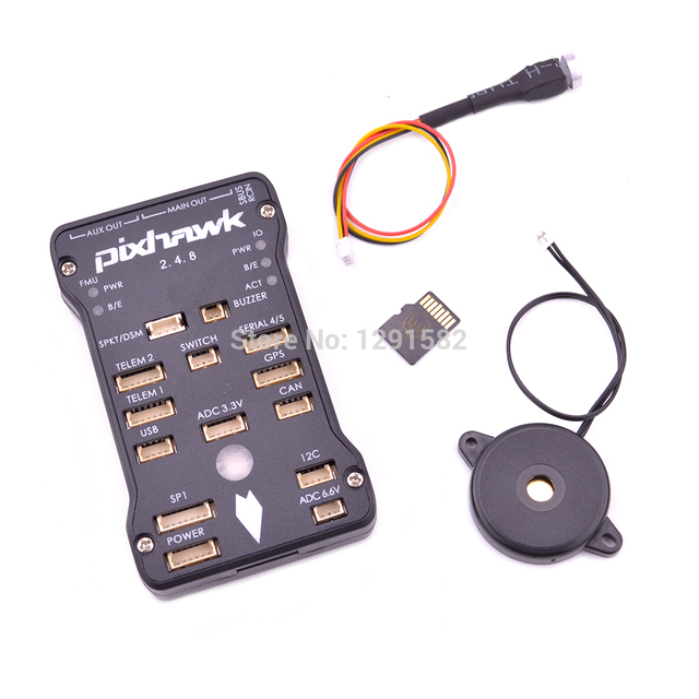 Pixhawk PX4 الطيار الآلي PIX 2.4.8 32 بت وحدة تحكم في الطيران مع مفتاح أمان و الجرس/4GB بطاقة/M8N لتحديد المواقع/الكابلات