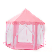 Princess Game Tent Castle Girls Large Play Tent Toy For Children Toddlers Indoor And Outdoor Hexagon Joyful Time Castle