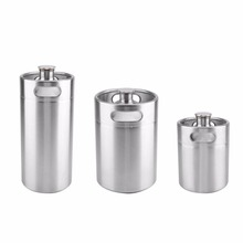 2/3.6/5L Stainless Steel Mini Beer Keg Pressurized Growler for Craft Beer Dispenser System Home Brew Beer Brewing Beer Supplies