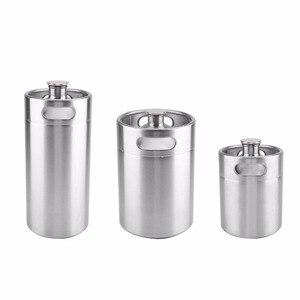 Image 1 - 2/3.6/5L Stainless Steel Mini Beer Keg Pressurized Growler for Craft Beer Dispenser System Home Brew Beer Brewing Beer Supplies
