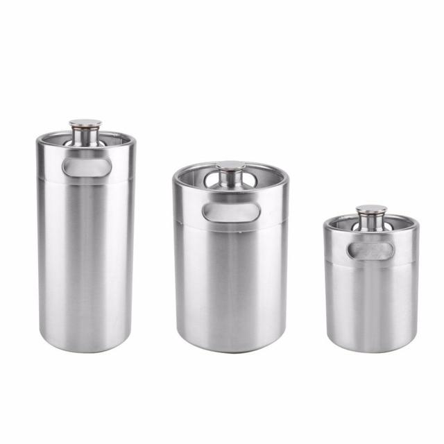 2/3.6/5L Stainless Steel Mini Beer Keg Pressurized Growler for Craft Beer Dispenser System Home Brew Beer Brewing Beer Supplies