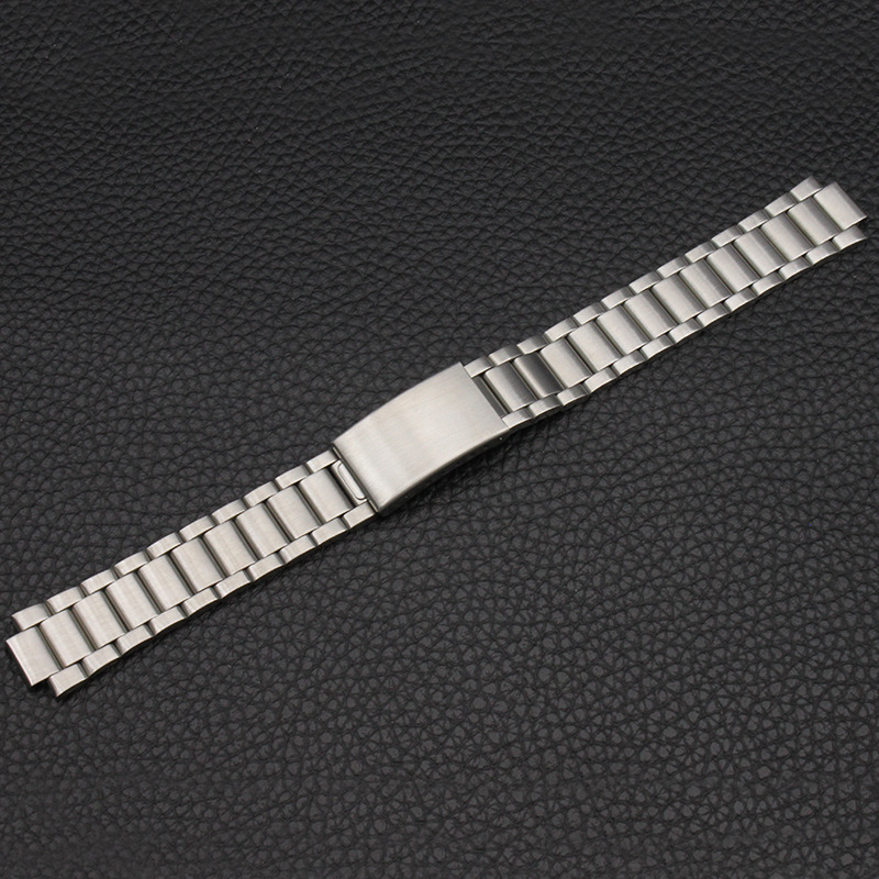 Watch Accessories (Band) Stainless Steel Watch Band Watch Strap MEN'S Watch Dial Pendant Protruding Opening 18*10 Mm