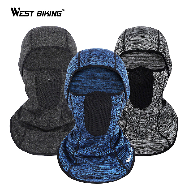 WEST BIKING Full Face Mask Warm Helmet Liner Riding Bicycle Snowboard Windproof Scarf Mask Winter Warm Face Shield Cap Hat