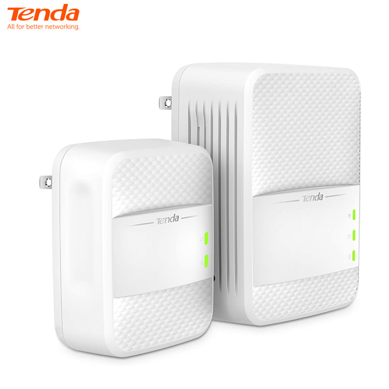 Tenda AV1000 Powerline Wi-Fi Extender, Dual Band AC Wireless, Gigabit Port, Plug and Play (PH10) Chinese Versions