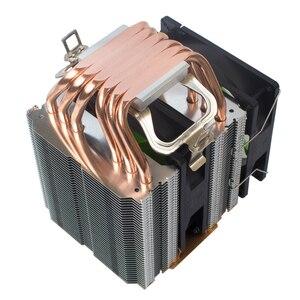 Image 3 - X79 X99 CPU برودة 4pin مروحة 115X 1366 2011 6 heatpipe المزدوج برج التبريد 9 سنتيمتر مروحة دعم إنتل AMD RGB ARGB المشجعين ryzen