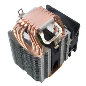 Image 3 - X79 X99 CPU cooler 4pin fan 115X 1366 2011 6 heatpipe dual tower cooling 9cm fan support Intel AMD RGB ARGB fans ryzen