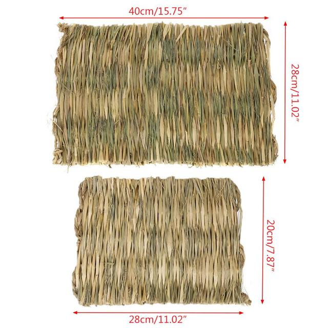 Rabbit Grass Chew Mat Small Animal Hamster Guinea Pig Cage Bed House Pad 6