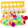 12 stücke Baby Montessori Lernen Bildung Mathematik Spielzeug Smart Eier Puzzle Passenden Spielzeug Kunststoff Schraube mutter Bausteine Für Kinder
