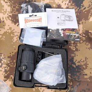 Mira telescópica holográfica para Rifle de caza al aire libre de 558 + 33, roja, verde, punteada para Weaver carril de 20mm, monturas de Color Tan y negro