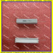 10 шт. RX27 горизонтальный цементный резистор 20 Вт 27 Ом 20 Вт 27R 27RJ 20W27RJ 27ohm керамическое сопротивление прецизионное 5% Сопротивление мощности