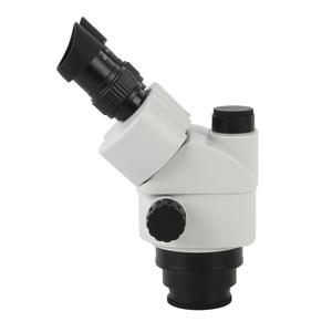 Image 4 - 3.5X 90X Simul הפוקוס סטריאו Trinocular זום מיקרוסקופ ראש WF10X/20mm עינית 0.7X 45X מטרה עדשת זום רציף