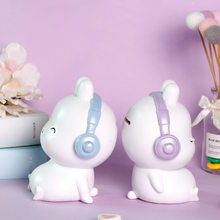 Hypnotic rabbit piggy bank cartoon creative resin ornaments home decorations desktop ornaments for classmates gifts piggy bank