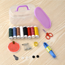 Sewing Box Set Household Portable 10 Piece Scissors Thimble Threader Mini Tool Thread Multi-function Kit E
