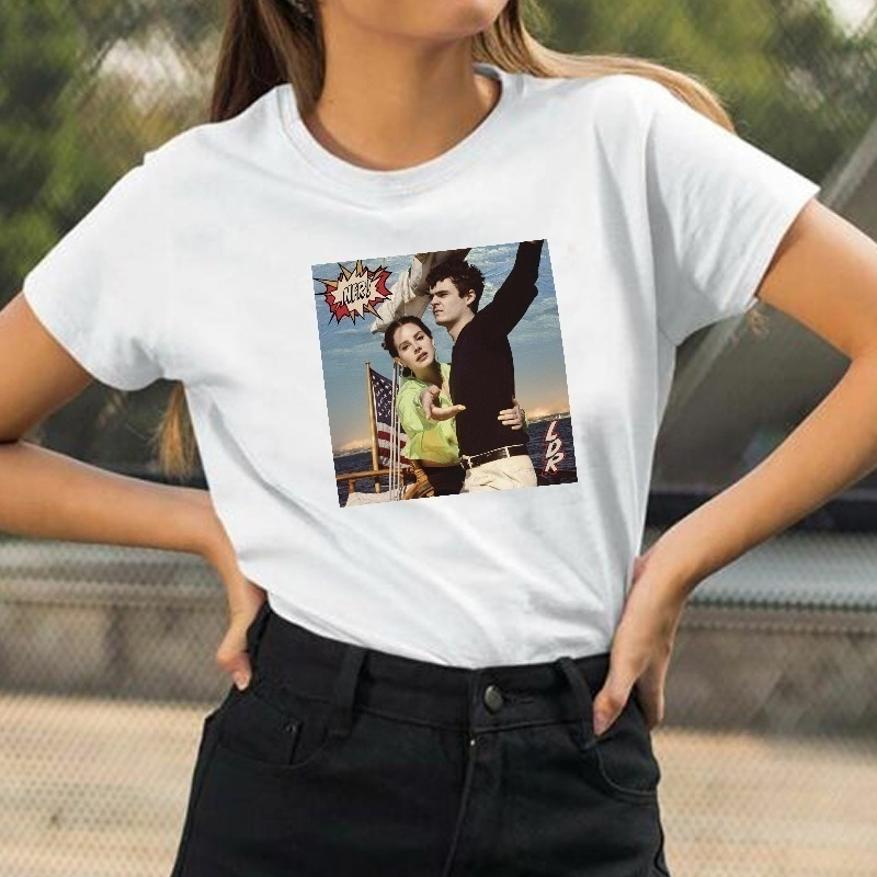 Vip Hjn Nfr Album Idol Tees Unisex Lana Del Rey Norman Rockwell Album Cover T Shirt Summer Fashion Street Style Music Tee T Shirts Aliexpress