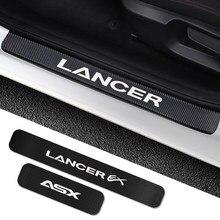 Autocollants de seuil de porte de voiture, accessoires de bricolage pour Mitsubishi Lancer EX Outlander ASX L200 rallart Colt Delica éclipse évolution X