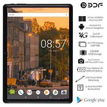 BDF 2021 nowy Tablet Pc 10 Cal Tablet Android 9 0 Octa Core 2GB 32GB 4G telefon LTE GPS Google Play 1280*800 tablety IPS 10 1 tanie i dobre opinie CN (pochodzenie) ultra cienkie Z dwiema kamerami Gniazdo słuchawkowe Karty tf TYPE-C Ramię Rohs english HEBRAJSKI greckie
