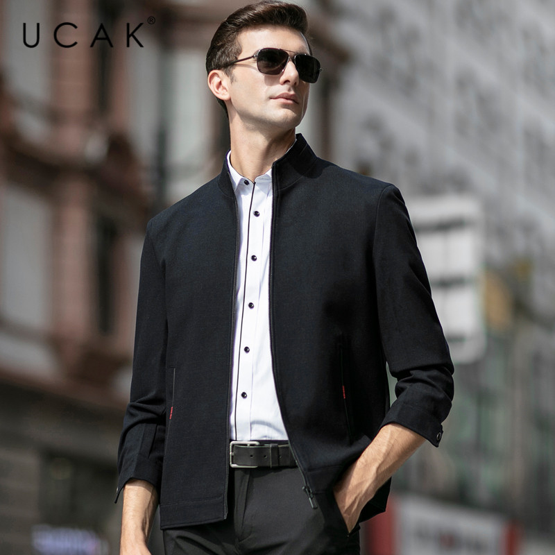 UCAK Brand Fashion Jackets Men Free Shipping Plaid Tops Casual Chaquetas Hombre New Spring Coat Streetwear Jacket  Men U8052