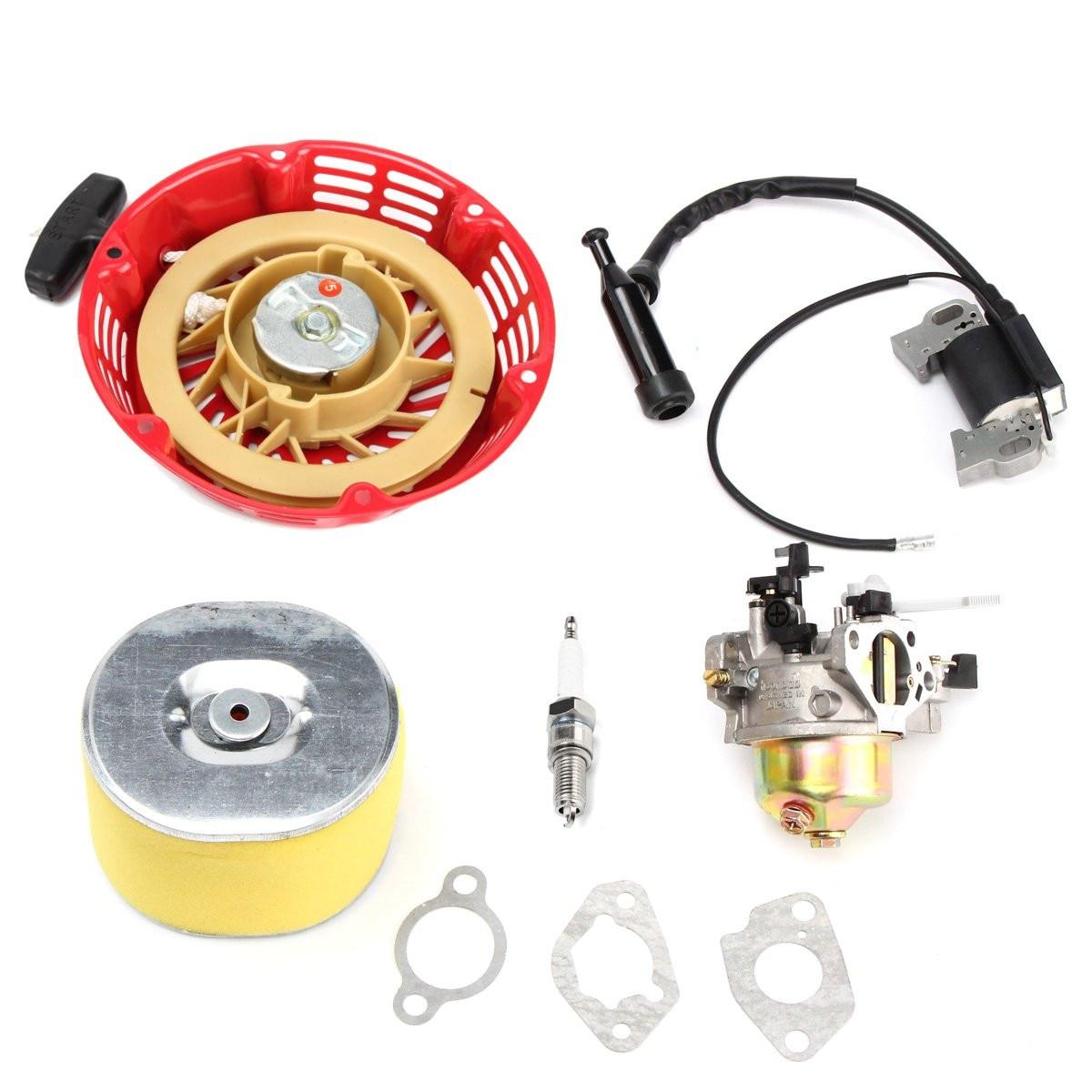 Wymiana gaźnika odrzutu filtr powietrza cewka zapłonowa wtyczka dla Honda GX240 8HP GX270 9HP