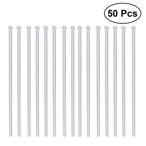 50pcs Transparent Cocktail Drink Bar Muddler Stirring Mixing Sticks Ladle Stirrer for Milk Tea Coffee Cocktail