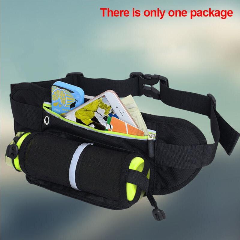 Outdoor Sports Water Bottle Waist Bag Multi-function Reflective Riding Marathon Belt Bag Running Mobile Phone Wallet Pocket