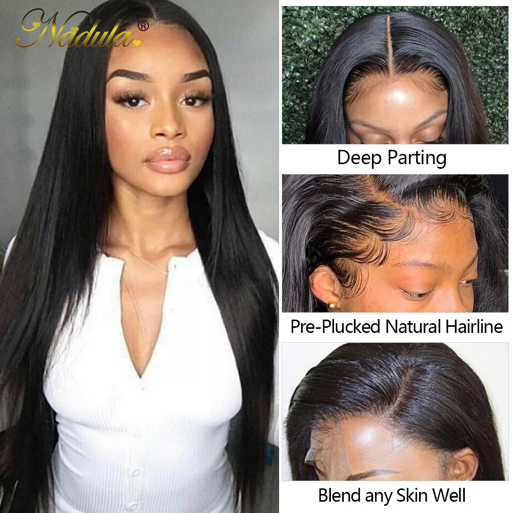Nadula Hair 5*5 HD Lace Closure Straight Hair Bundles With Closure 100%  Bundles With Closure   2