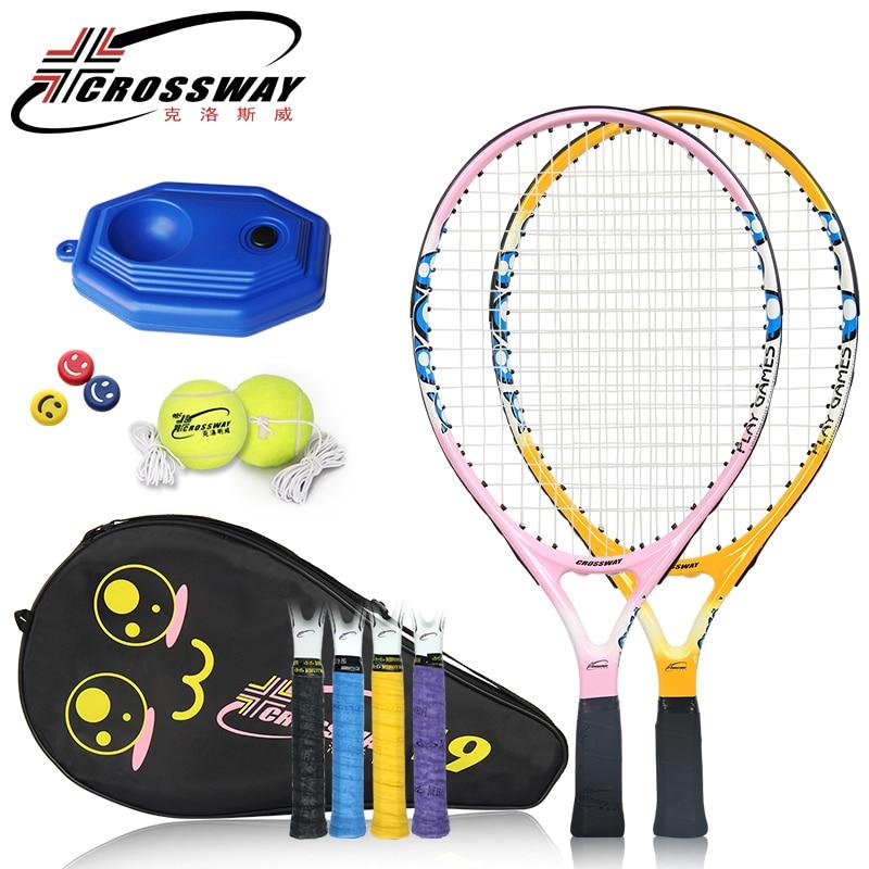 Children Tennis Racket Set Kids Carbon Paddle Raqueta Ultra Light Carbon Bat Toddler Set 9/21/23 Inch Tennis Sport Trainer