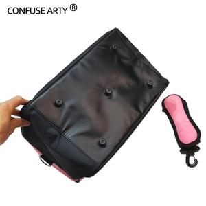 Image 5 - Hair Scissor Bag Salon Barber Handbag Hairdressing Comb Tools Bag Makeup Storage Bag Travel Hairstyling Carry Case