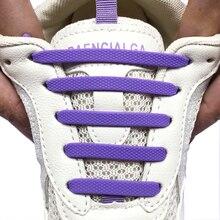 12pcs/set Elastic Silicone Shoelace Practical Fashionable Men Women Lazy Hammer Type Shoe laces Sneakers No Tie Shoelaces
