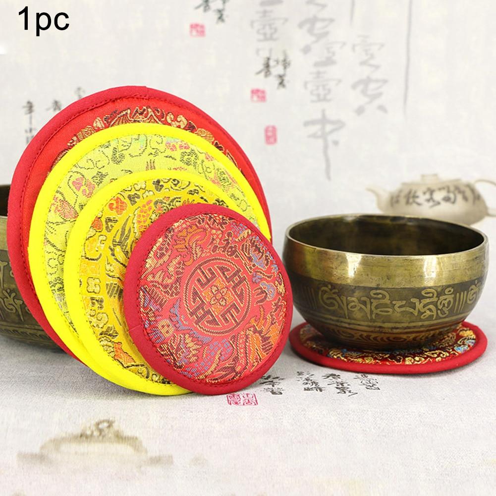 Tea Pot Tibetan Meditation Multifunctional Singing Bowl Mat Buddhist Accessories Handcraft Decorative Cup Pad Thick Non-Slip