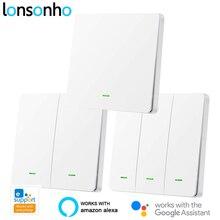 Lonsonho EWeLink WiFi Smart Switch RF433 UK Pushปุ่มSmart Home AutomationโมดูลAlexa Google Home Assistant