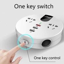 Convertitore Inverter per Auto DC 12/24V a 220V AC Display digitale con 2 prese ca caricatore USB 2.0A calzino di ricarica per Inverter di alimentazione automatica