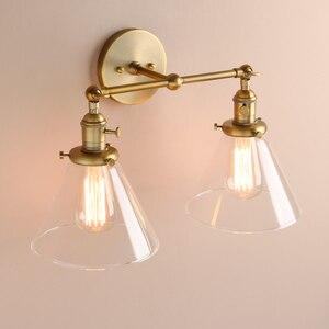 Image 4 - Permo 現代の壁灯壁ランプ燭台 7.3 漏斗ガラスランプシェード wandlamp 寝室ミラーライトロフト装飾照明器具