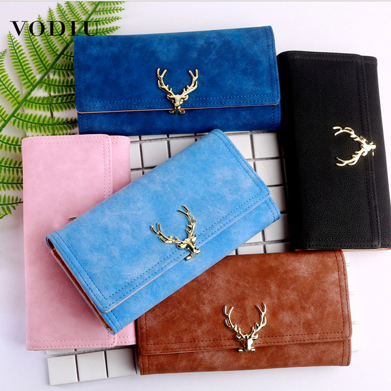 Women's Wallet Purse Fashion Designer Brand Clutch Folding Clip Card Holder Long Purse Mini Wallet Women Leather Female Wallets