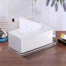 1 шт. прозрачная ткань коробка держатель для салфеток гостиная домашняя бумага для органайзера диспенсер