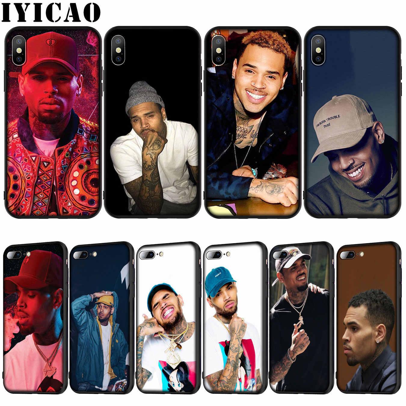 IYICAO كريس براون لينة غطاء سيليكون حالة ل فون 12 البسيطة XR X XS 11 برو ماكس 10 6 6S 7 8 زائد 5S SE الهاتف حالة