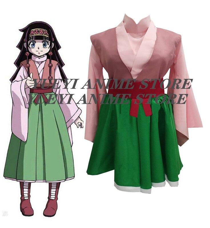 2020 anime hunter x hunter alluka zoldyck aruka cosplay traje quimono personalizado qualquer tamanho