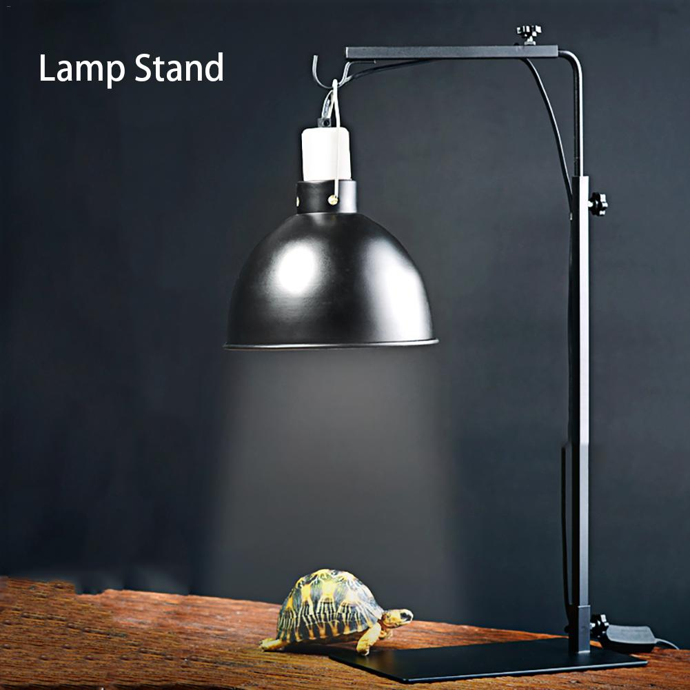 Reptile Lamp Stand Adjustable Telescopic Metal Floor Lamp Bracket For Succulent Lizard Tortoise Turtle Heating Light Holder
