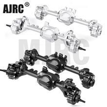 G2 alumínio ackermann dianteiro e traseiro ponte eixos gax0121afb/afs para 1/10 traxxas TRX 4 defender #82056 4 trx4 bronco