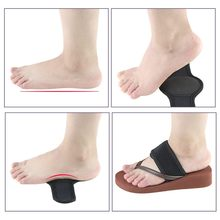Guard foot pad foot movement flat arch foot pad support foot valgus correction leg type Elastic Sole Pain Relief Heels Cushion(China)