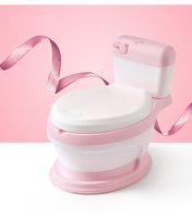 New design hot selling portable toilet for baby toilet potty for free potty brush+ cleaning bag