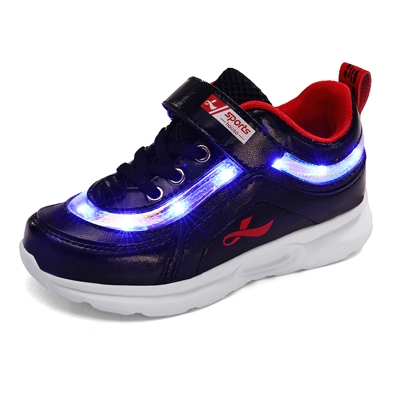 2019 Sneakers Led Shoes Kids Shoes Girls Children Boys Light Up USB Luminous Glowing Illuminated Lighted Lighting