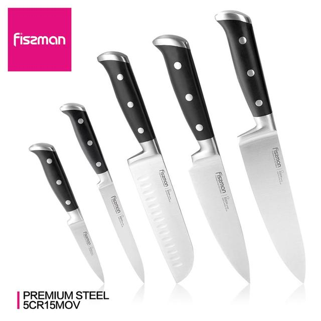 FISSMAN KOCH Series German Steel Kitchen Knives Chef Santoku Slicing Knife