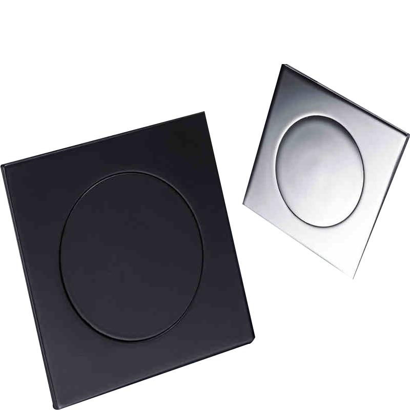 Image 4 - IIBizza Pop Up Foot Floor Drain Brass Chrome Plated Bathtub Push Down Deodorization type Square Modern Floor Cover Plug 10*10cmDrains   -