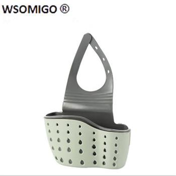 1pcs Kitchen Tools Organizer Adjustable Snap Sink Soap Sponge Kitchen Accessories Kitchen Hanging Drain Basket Kitchen Gadgets-S 6