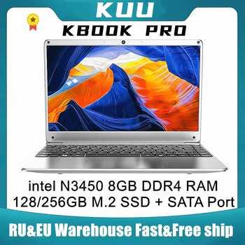 KUU KBooK Pro 14.1 inch Intel N3450 8GB DDR4 RAM 256GB SSD Notebook IPS Laptop Full Layout Keyboard additional Sata 2.5 port - DISCOUNT ITEM  20 OFF Computer & Office