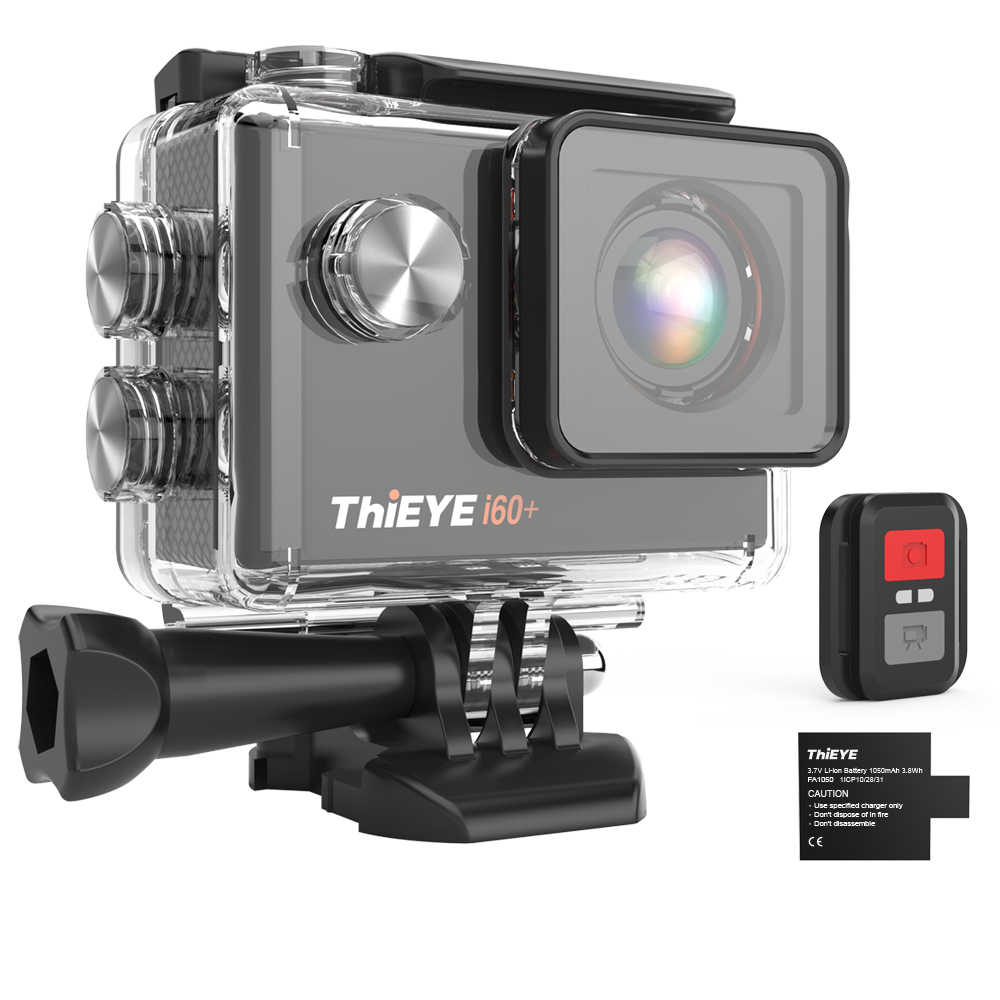 ThiEYE i60 + 4K 30fps Full HD WiFi Afstandsbediening Actie Camera 60M Waterdichte Sport video Camera 170 graden groothoek cam