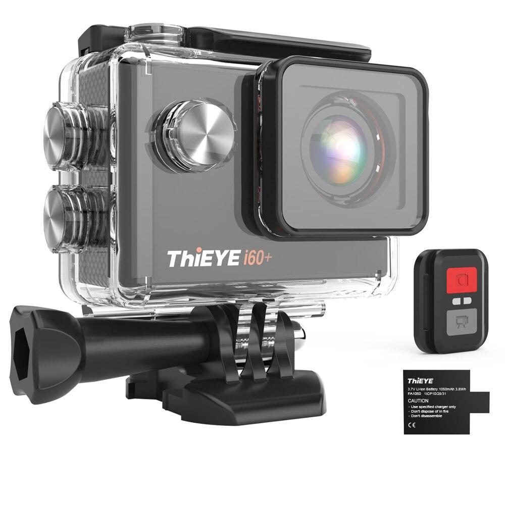 Экшн-камера tieye i60 + 4K 30fps Full HD WiFi с дистанционным управлением 60 м Водонепроницаемая спортивная видеокамера 170 градусов широкоугольная камера