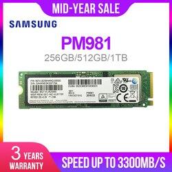 SAMSUNG SSD M.2 PM981 256 ГБ 512 ГБ 1 ТБ твердотельный жесткий диск M2 SSD NVMe PCIe 3,0x4 NVMe ноутбук внутренний disco duro TLC PM 981