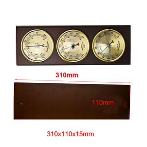 Image 4 - 3Pcs/Set Hygrometer Manometer Thermometer Barometer With Wooden Frame Base Gift Ornaments/Weather Station Instrument